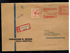 1933 Lorch Germany Graf Zeppelin Cover to CAracas Venezuela LZ 127 Sieger Label