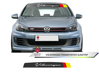 Volkswagen Sun Strip Golf  Decals Volkswagen Any Colour FITS ANY VEHICLE