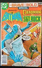 The BRAVE and the BOLD #1 Special Batman Sgt Rock Deadman (1978 DC Comics) GD