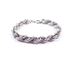 Silver Rope Necklace Heavy Chunky English 1979 Hallmarked 925 Sterling 34grams