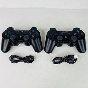 Genuine Sony Playstation PS3 SixAxis Wireless Controllers - 2 OEM Black CECHZC1U