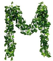 Pothos Variegated Leaf Hanging Garland Ivy Leaves Silk Arch Artificial Greenery