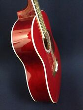 3/4 Size VGS Traveler Steel-String Acoustic Guitar,Red w/Free gig bag,String Set