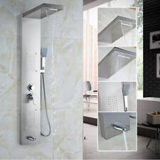 Bathroom Multi Function Shower Panel with Handshower Spary Wall Mount Tap Nickel