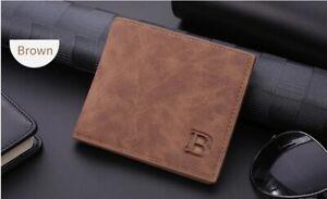 New Design Dollar Price Top Men Slim Wallet With Coin Bag Zipper Wallet Brown
