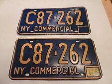 VINTAGE 1960's 1970's NEW YORK LICENSE PLATE - ORIGINAL MATCHING PAIR 262