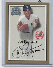 JOE PEPITONE 2000 FLEER GREATS OF THE GAME YANKEES ON CARD AUTO