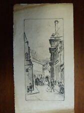 "FRANK ARMINGTON "" rue de vaugirard , paris "" etching , limited edition 5/30"