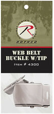 Chrome Belt Buckle With Tip For Web Belts Military BDU Belt Rothco 4300