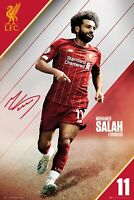 """MOHAMED SALAH ACTION LIVERPOOL POSTER 24'X36"""" OFFICIALLY LICENSED"""