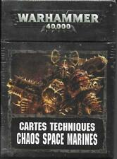 WARHAMMER 40000 40k - Cartes Techniques Chaos Space |NEUF/NEW|