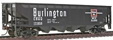 HO Gauge-Walthers Trainline-931-1652-CB & Q Burlington RR-Quad Hopper Car