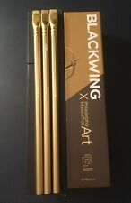 Box & Sleeve Included, 3 Blackwing Diana Gold Pencils,  PMA