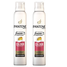 2x Pantene Pro-V  In the Shower Foam Conditioner Colour Protect 180ml