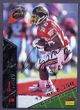 TYRONE POOLE 1995 SIGNATURE ROOKIES Autographs International Football Card #58