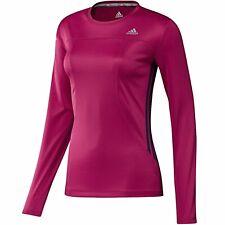 New Womens Adidas Response Long Sleeve Lightweight Running Top Size Large
