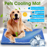 Removable Pet Cooling Mat Gel Mats Bed Cool Pad Puppy Cat Non-Toxic Beds  e e`