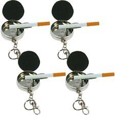 4x Metall Taschen-Aschenbecher Ascher für die Hosentasche als Schlüsselanhänger
