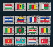 NATION UNIES  New York 1ère série des Drapeaux de 1980  oblitéré   hd