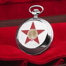 Pocket Watch Molnija 3602 Hammer & Sickle Shaped Monument Rodina Wolgograd II WK