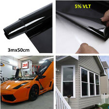 3mx50cm 5% Vlt Car Auto Home Window Glass Tint Film Roll Tinting Style Uv Shade(Fits: More than one vehicle)