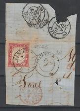 FRANCOBOLLI 1862 SARDEGNA 40 C. SASSELLA 23/8 C/7403