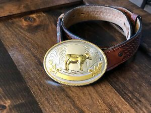 Large Oval FFA or 4-H Belt Buckle 3D Stock Show Dairy Cow FREE PRIORITY SHIP