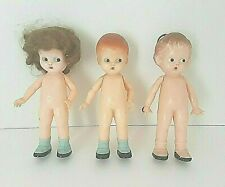 Vintage Lot 3 Knickerbocker Plastic Co.Doll's 6'' Inches