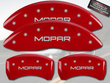 """2006-2010 Dodge Charger R/T Front Rear MGP Red Brake Disc Caliper Covers """"Mopar"""""""