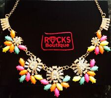 """Gold Crystal Statement Necklace Towie """"RB10 Collection"""" From Rocks Boutique"""
