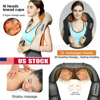 Massager of Neck Kneading Shiatsu Back&Shoulder Massager Pain Relief Home Office