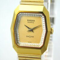 RADO DIASTAR 133.0119.3 WOMEN'S GOLD VINTAGE WATCH SWISS QUARTZ