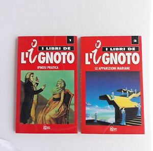 "I LIBRI DE ""L'IGNOTO"" N.1 IPNOSI PRATICA N.2 LE APPARIZIONI MARIANE 1993 NUOVO"