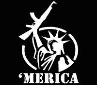 'merica Statue of Liberty America Vinyl Decal Car Window Sticker