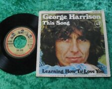 """Single 7"""" George Harrison - This Song / Learning how to love you"""