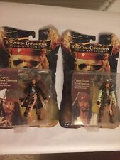 Lot of 2 Pirates Of The Caribbean Dead Mans Chest Captian Jack Sparrow Figures.