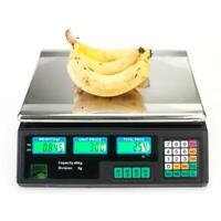 ELECTRONIC DIGITAL COMPUTING PRICE WEIGHT KITCHEN POSTAL FOOD TRADE SCALE 40KG