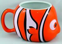 Disney's Finding Nemo 3D Orange Clown Fish Ceramic Coffee Mug 14 oz