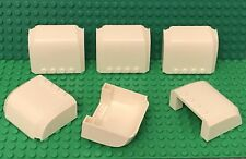 Lego X6 White Wedge 5 x 6 x 2 Curved / Top Canopy Windscreen With 4 Studs
