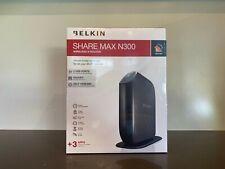 Belkin SHARE MAX N300 Wireless N Routers + 2 USB + 4 GIGABIT LAN Port