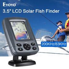 """Sonar Fish Finder 3.5"""" LCD Boat Finder 0.6M to 300M Echo Sounder 200KHz/83KHz"""