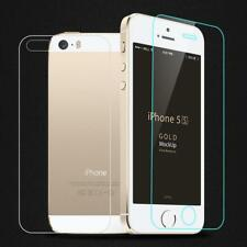Front + Back Tempered Glass Protector For iPhone 5S 5 SE 6 6S 6 6S Plus 7 7 Plus