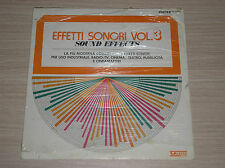 EFFETTI SONORI VOL. 3 (SOUND EFFECTS) - LP 33 GIRI ITALY SIGILLATO (SEALED)