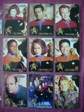 Star Trek: Voyager Profiles X9/10 Autograph Challenge Chase cards Skybox 1998 VF