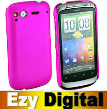 PINK Rubberized Hard Case Cover For HTC Desire S G12