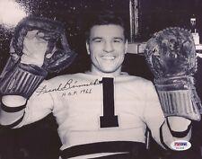 Frank Brimsek Autographed Boston Bruins 8x10 Photograph (PSA) RARE! HOF DECEASED