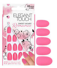 Elegant Touch False Nails - Sweet Heart Romance Pastel Pink 24 Nails 10 Sizes