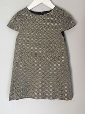 Marie Chantal Navy Gold Jacquard Design Girls Dress Size 4 Fits 2-3 BNWOT