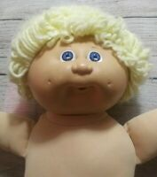 1985 Cabbage Patch Doll Boy Blond Blue Eyes Two Dimples