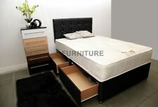 Traditional Fabric Medium Beds with Mattresses